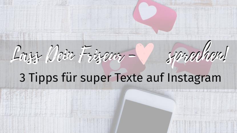 Friseure texte schreiben auf Instagram